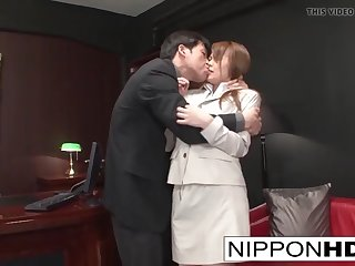 asian office hottie gets gangbanged by her colleagues