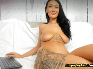 horny stepmother loves touching herself on webcam