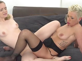 mother and daughter try taboo lesbian sex